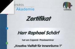 Zertifikat – Kreative Vielfalt für Innenräume