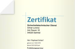 Zertifikat – Befähigte Personen im Gerüstbau