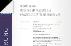 Präqualifizierung Malerbetrieb Schultze